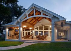 Beautiful ceiling and porch -- Porch Design and Build by Kendale Design/Build
