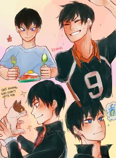 kkumri:  a freak quick for twitter's #hq_69min: kageyama smiling! his smile can be real cute when he's unaware.