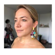 Beaded Earrings, Crochet Earrings, Beaded Jewellery, Drop Earrings, Jewelry Design, Stitch, Beads, Bracelets, Design Ideas
