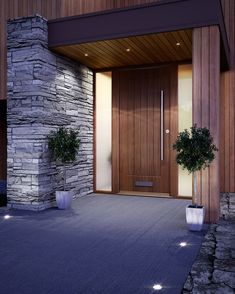 56 ideas large modern entrance door for 201956 Ideas Large Front Door Entrance Modern for 2019 doorFront door ideas Ideas to update the front door - joyful derivativesCountless ideas on how to update your front Modern Entrance Door, Modern Exterior Doors, Modern Front Door, Wooden Front Doors, Exterior Front Doors, Entrance Design, Timber Front Door, Modern Porch, Entrance Ideas