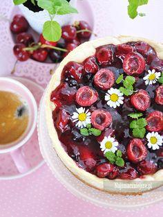 #jagielnik, czyli #sernik z kaszy jaglanej #przepis #najsmaczniejsze #food #ciasto #cake Polish Desserts, Acai Bowl, Cheesecake, Sweets, Cakes, Cooking, Breakfast, Food, Cherries