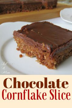 Delicious Chocolate Cornflake & Coconut Slice. Easy recipe with simple ingredients.