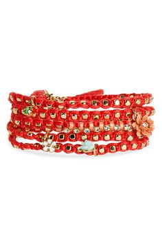 Juicy Couture 'Heirloom Garden' Charm Wrap Bracelet $48.00