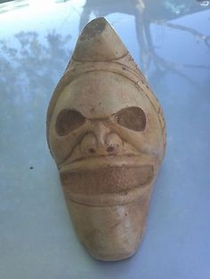 Taino-Trigonolito-Zemi-Pre-Columbian