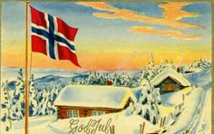 Julekort George Schumann Børrehaug & Remen stemplet 1955