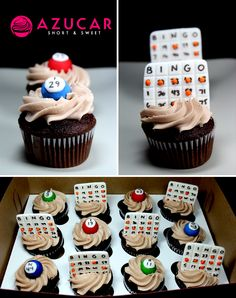 BINGO themed cupcakes