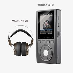 XDUOO X10 HD HIFI DSD Music Audio Player 192KHz/24bit DAP Support Optical Output MP3 Player with MSUR N650 Headset