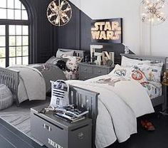 Discover boys room ideas and inspiration at Pottery Barn Kids. Shop our favorite boys bedrooms for furniture, bedding, and more. Furniture, Childrens Bedroom Furniture Sets, Room, Bedroom Sets, Childrens Bedroom Furniture, Home, Bedroom Design, Bedroom Diy, Star Wars Bedroom