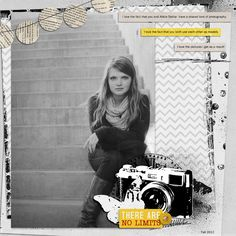 Like the black and white with the pops of yellow...not a fan of the camera die cut