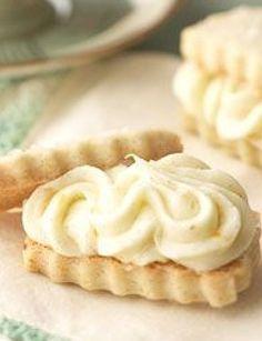 Vanilla Bean Shortbread Sandwiches with Orange Buttercream Recipe   bhg.com