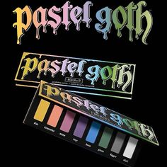 @katvondbeauty did a surprise stock on their Pastel Goth palette today on the KVD Beauty website (not Sephora), you bet your nalgas I ran my ass to my computer and bought this beauty! I also bought one for @zombiepinups that way we can both be pastel princesses together, can NOT wait to play with this palette 💙💚💛💜❤️🖤 #fuckyeah #katvondbeautyforlife