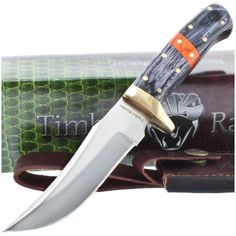 Timber Rattler TR108 Saddlebag Skinner Knife w/ Leather Sheath | MooseCreekGear.com | Outdoor Gear — Worldwide Delivery! | Pocket Knives - Fixed Blade Knives - Folding Knives - Survival Gear - Tactical Gear