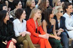 Michelle Dockery, Rosie Huntington-Whiteley, Freida Pinto, Rita Ora, Kate Beckinsale Front Row at Burberry Prorsum [Photo by Nazarin Montag]