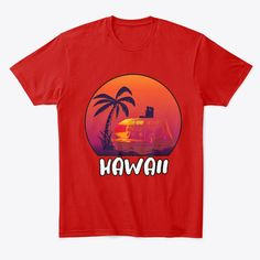 Retro Hawaii Hippie Van Beach Surfer Products from str | Teespring Funny Dad Shirts, Dad To Be Shirts, Dad Humor, Hawaii, Dads, Retro, Beach, Mens Tops, T Shirt