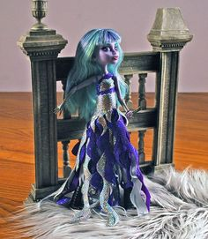 Monster High handmade Twyla doll dress Swirly by aGhoulsNightOut