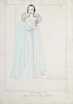 Norman Hartnell designs for H.M. The Queen (Mother), late 1930s-early 1940s