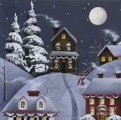 Christmas Eve Painting by Catherine Holman - Christmas Eve Fine Art Prints and Posters for Sale