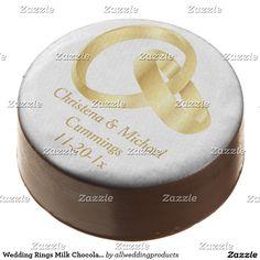 Wedding Rings Milk Chocolate Dipped Oreo Cookies