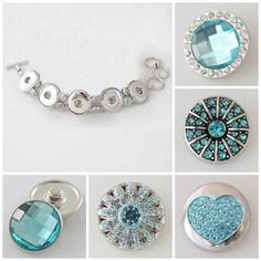 Turquoise 5 snap noosa style bracelet. $29.99 & Free Shipping
