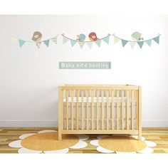Bird Bunting Fabric Wall Stickers from notonthehighstreet.com