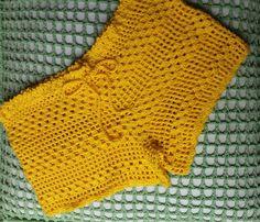 Risultati immagini per shorts de croche Shorts Tejidos A Crochet, Crochet Pants, Love Crochet, Crochet Clothes, Crochet Baby, Crochet Bikini, Crochet Top, Crochet Stitches Chart, Crochet Patterns