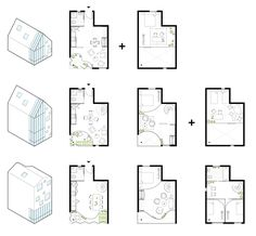 Bee Breeders Announce Winners of Hong Kong Pixel Homes Competition,Second Prize: Plans. Image Courtesy of Bee Breeders