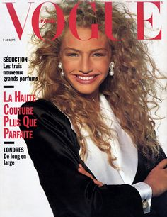 Michaela Bercu by Patrick Demarchelier Vogue Paris September 1988 Vogue Magazine Covers, Fashion Magazine Cover, Vogue Covers, Vintage Vogue, Vintage Glamour, Vintage Beauty, Patrick Demarchelier, Vogue Paris, Michaela Bercu
