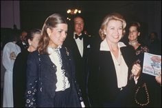 1977 - Princess Caroline and Princess Grace at the party, 'Harlem Annes 1930' in Paris                                                                                                                                                      Plus
