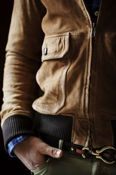 Truffol.com | Light colored leather jacket. #urbanman #style #leather #casual