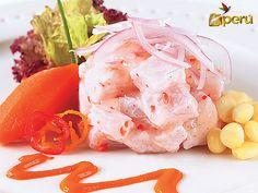Ceviche de pescado, peruvian food.