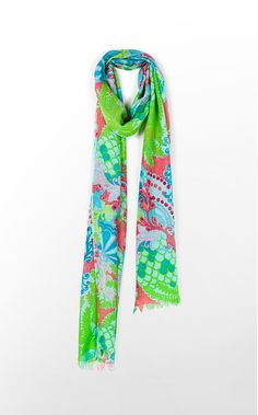 Murfette Scarf- Everyone needs a colorful collection of scarves- hang them up for everyone to see for extra decoration!