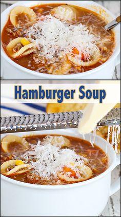 Hamburger Soup     www.joyineveryseason.com