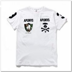 Feel the Vain of this AAPE APUNVS Logo Cotton T-shirt Collection  http://superdap.com/tops/t-shirts/aape-apunvs-logo-cotton-t-shirt-white  #aape #aapetshirt #urbanwear #streetfashion #streetwear