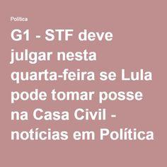 vão parar com a palhaçada....????    TODOS SÃO LADRÕES NO GOVÊRNO, ACHO QUYE ATÉ FAXINEIRO TEM BOQUINHA ALI... POR DEUS...G1 - STF deve julgar nesta quarta-feira se Lula pode tomar posse na Casa Civil - notícias em Política
