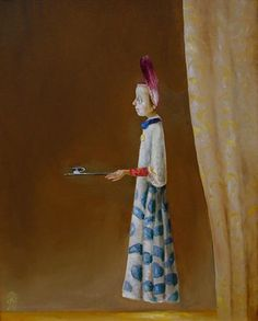 Character with Cup - Stefan Caltia Peter Doig, Magic Realism, Art Database, Puppets, Sculpture, Artist, Painting, Character, Image