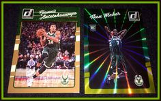 LOT OF 2 2016-17 DONRUSS MILWAUKEE BUCKS GIANNIS ANTETOKOUNMPO  MAKER HOLO LASER #MilwaukeeBucks