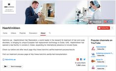 We have over 1,500 visitors to our YouTube Channel!  Thank-you all for your continuous support. Our next milestone is 2,000.  http://www.youtube.com/user/HaarklinikkenUAE/about