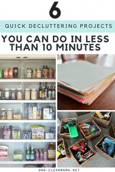 No time? No problem! Declutter in a hurry with these six projects.