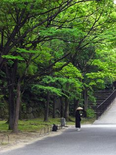 monk on the street, Osaka, Japan