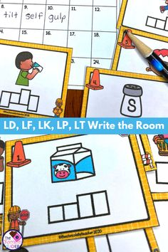 Are you looking for a FUN activity to practice ending L Blends LD, LF, LK, LP, L Blends, Phonics Blends, First Grade Phonics, Letter Boxes, Consonant Blends, Teaching Phonics, Recording Sheets, Cool Writing, Literacy Centers