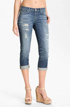AG Jeans 'Stilt' Crop Skinny Jeans (15-Year Shred) available at #Nordstrom   #BrahminSummerStyle