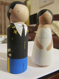My DIY wooden military cake toppers ++ « Weddingbee Boards