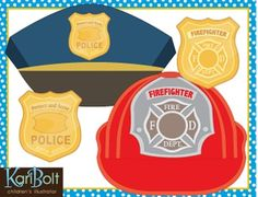 Community Helper Hats and Badges Craft - FREE