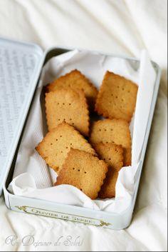 Biscuits sablés à la châtaigne et au miel