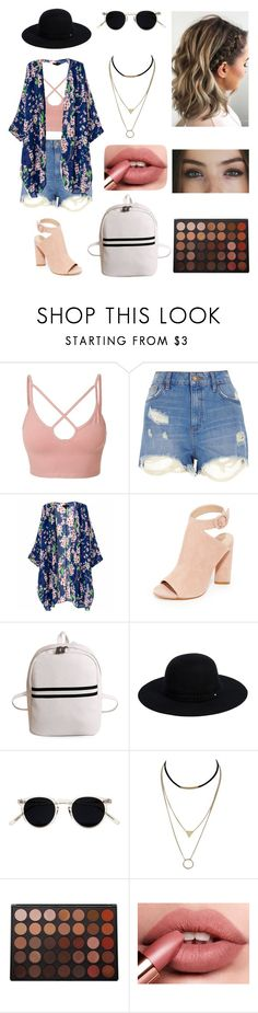 """""""Untitled #146"""" by ladivazamendes on Polyvore featuring LE3NO, River Island, Kendall + Kylie, Siggi, Oliver Peoples and Morphe"""