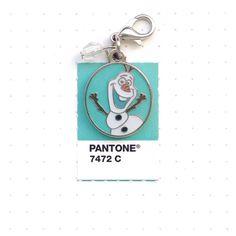 """Pantone 7472 color match.  """"Hi everyone, I'm Olaf. I like warm hugs."""" I had to get this charm too. Love Olaf!"""