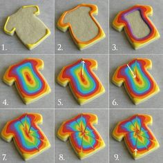 Tie dye cookies..these were the cookies made for Lynn's 60th birthday and our 60's party.  They tasted as good as they looked.