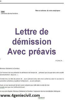 3 Modeles De Lettres De Demission Avec Preavis Word Modele De Lettre De Demission Lettre De Demission Modeles De Lettres