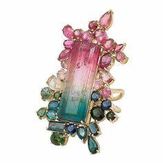 High Jewelry, Modern Jewelry, Jewelry Art, Jewelry Rings, Vintage Jewelry, Jewelry Design, Jewellery, Tourmaline Jewelry, Gemstone Jewelry