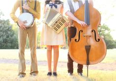 Try some folk music at your event like this banjo, accordion and cello trio in Blueberry Hill Events' tabletop design. Photo by Aaron Snow Photography. #wedding #entertainment #folk